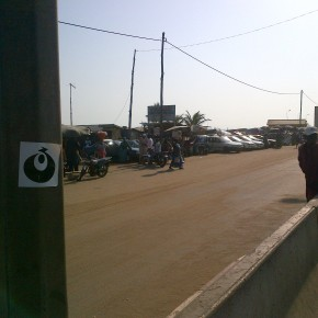 Heading home. La douane. Lomé, Togo